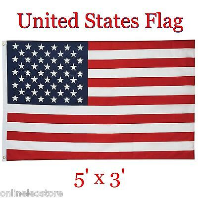 "UNITED STATES of AMERICA Flag 5"" x 3'"