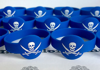 Pirates Wristbands✜ 8 For £3.99 Or 10 For £4.99 ✜ Party Bag Fillers✜Rubber✜Boys
