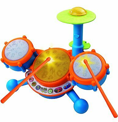 VTech KidiBeats Drum Set For Kids Toys Toddlers Baby Gift Learn Music Fun Hobbie