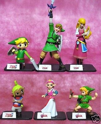 The Legend of Zelda Figure Collection 6 pcs Set TakaraTomy ARTS From Japan New