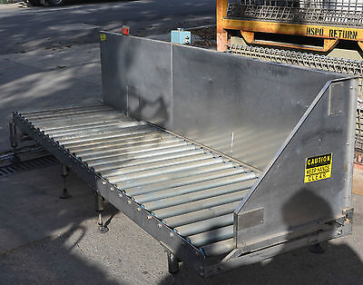 Stainless construction powered roller conveyor 750mm x 2.88m