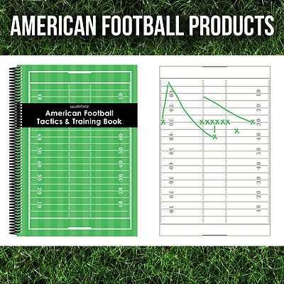 3 x A6 AMERICAN FOOTBALL COACHES NOTEBOOKS FOR TRAINING AND TACTICS