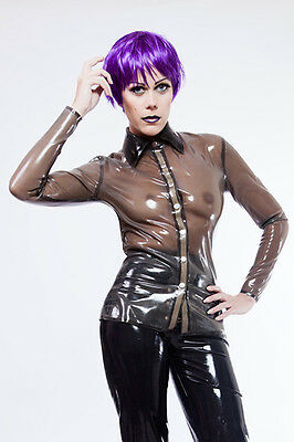 Elegante and sexy Latex Bluse/ Gummi Blouse