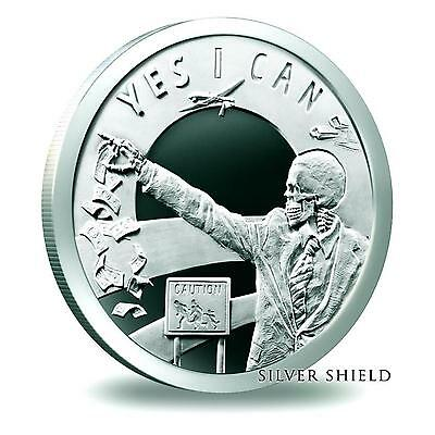 2014 Silver Shield 7 Sins of Obama 1 oz .999 Silver Proof-Like Round USA Coin