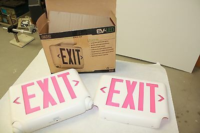 DUAL-LITE EVCURWDI Exit Sign & Emergency Lights    NEW