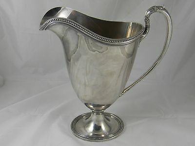 Stunning Silver Plate Milk Water Pitcher IS Wilcox Marie Louise Rare
