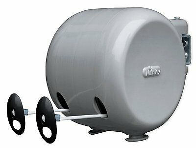MINKY 30M Dual Outdoor Retractable Reel Clothes Dryer Washing Line Reel 2x15m