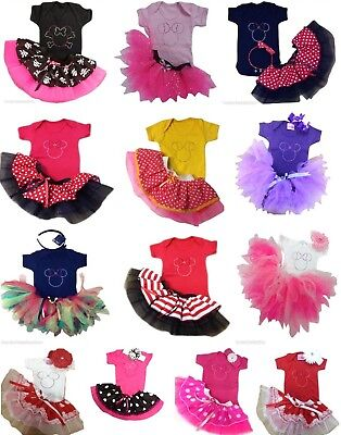 Baby Girl Neon Tutu Skirt Fancy Dress Party Costume Toddler Kid Cake Smash
