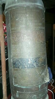 Antique copper fire extinguisher good shape