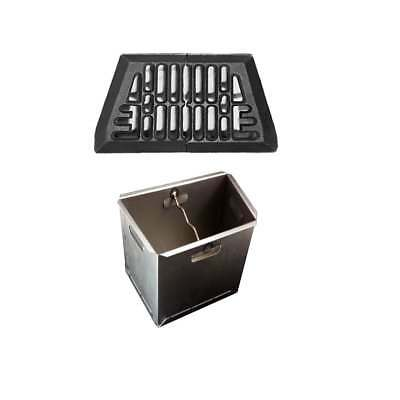 Baxi Fire Grate and Baxi Ashpan Set - Cast Iron Grate and Steel Ashpan (2 Sizes)