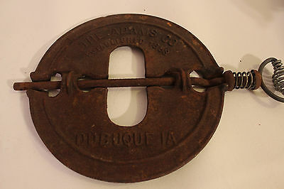 "The Adams Company Dubuque, Iowa Diamond 8"" Stove Pipe Spindle Established 1883"