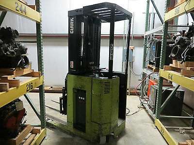 Clark Forklift Np300D40 Electric Stand Up 4K Narrow Aisle 24V Truck W/battery