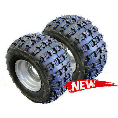 2x 18 X 9.5 - 8 Inch Wheel Tyre Rim 125/150/200/250CC Quad Bike ATV Mower GoKart
