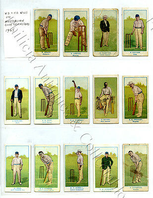 1905 Wills Capstan Navy Cut Cards Aust Club Cricketers Darling/trumper A34