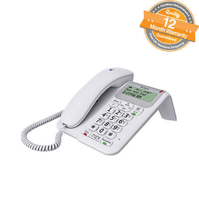 BT Decor 2200 Corded Telephone With Phonebook And Speakerphone In White