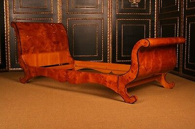 H-Sam-2 Almond Shaped Bed In The Biedermeier Style