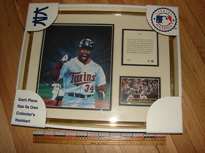 MLB Kirby Puckett frame with picture, card and bio- Kelly Russell Studio