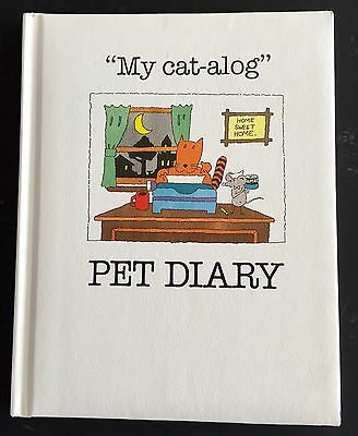 """*Vintage* """"MY CAT-ALOG"""" PET DIARY Cat Baby Book 1986 Amore Cat Food Promo NOS"""