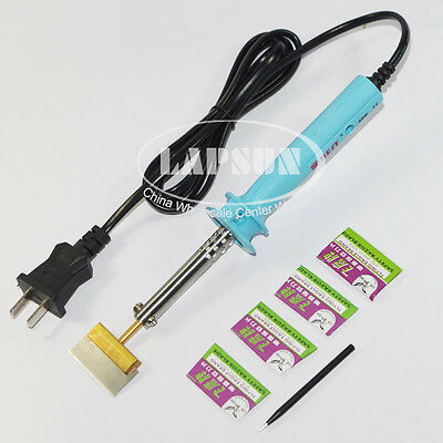 220V 30W Solder Iron UV Glue Remove Cleaner T-Tip 5 Blades F Touch LCD Screen AU