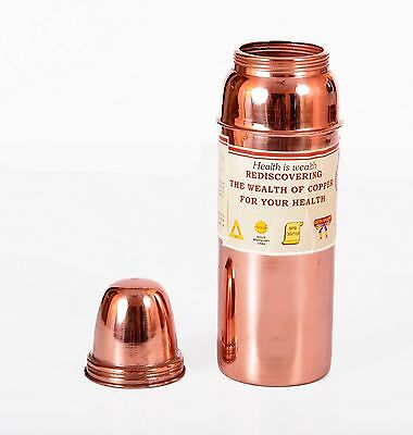 INDIAN COPPER WATER SIPPER BOTTLE HEALTH MINERALS GOOD HEALTH Nervous System