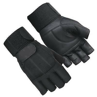 Leather Weight Lifting Padded Long Strap Gloves Training Gym Exercise Fitness