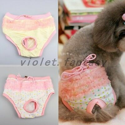 Female Dog Care Soft Cozy Physiological Sanitary Pants Menstrual Nappy Diaper