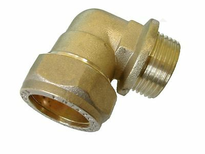 """28mm Compression x 1"""" BSP Male Elbow 