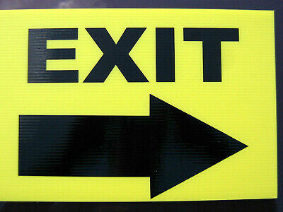 Event Signage - Exit With Arrow Pointing Right - Direction Signs (24-18)