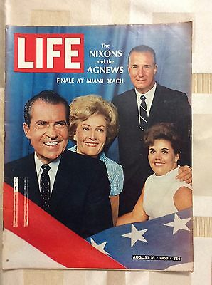 Life Magazine August 16, 1968: The Nixon and the Agnews: Finale at Miami Beach
