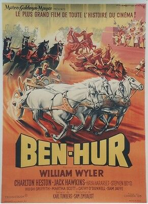 """BEN-HUR"" Affiche originale entoilée (William WYLER / Charlton HESTON)"