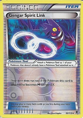 Pokemon Xy Phantom Forces - Gengar Spirit Link 95/119 Rev Holo Trainer Card