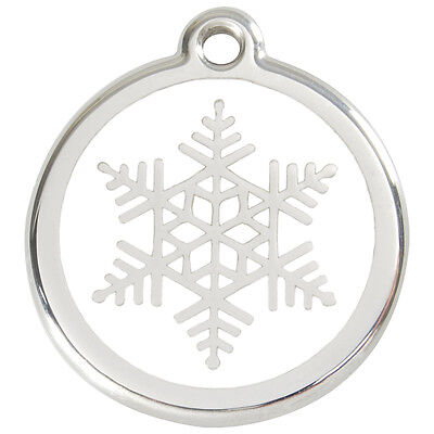 Snowflake Engraved Dog / Cat ID identity Tags / discs by Red Dingo (1SF)