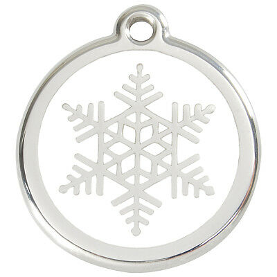 Snowflake Engraved Dog ID identity Tags / discs by Red Dingo (1SF)