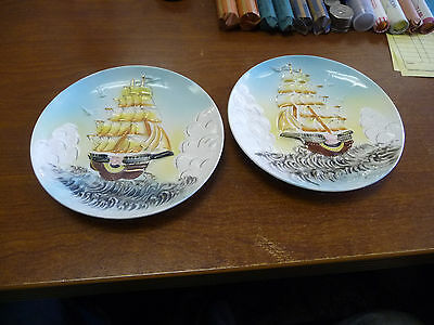 Vintage Two Tilso Hand Painted Japan  Dish/plaque