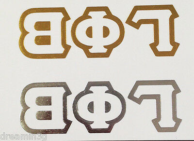Gamma Phi Beta Temporary Tattoos (One Gold & One Silver) - Two Total