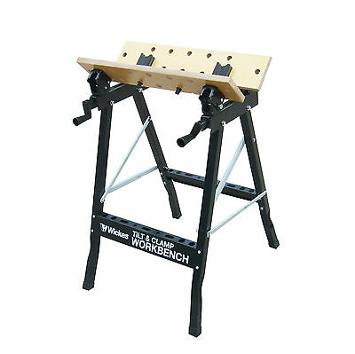 Foldable Workbench With Adjustable Angle Adjustable Saw Horse Trestle Support