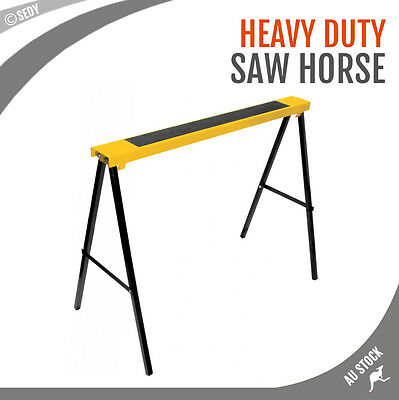 Metal Saw Horse Foldable Steel Trestle Stand Carpentry Work Bench Support Bench