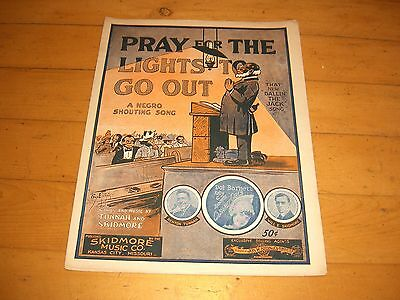 PRAY FOR THE LIGHTS TO GO OUT-BLACK AMERICANA SHEET MUSIC