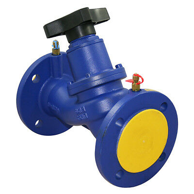 Cast Iron Flanged Pn16 Double Regulating Valve With Test Point