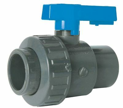 "PVC SOLVENT WELD SINGLE UNION BALL VALVE - EPDM RING  -  1/2"" To 4"""