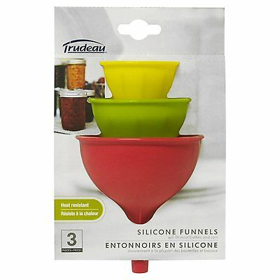 Trudeau Silicone Funnels - Set of 3