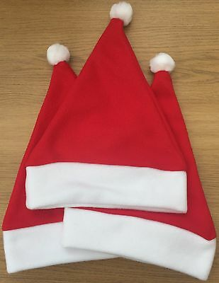 Red Baby Xmas Santa Hat 4 sizes 100% polyester fleece NOT FELT!! Great quality.