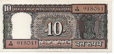1969-70 10 Rupees India Banknote UNC - Pick 69b
