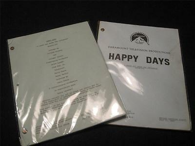 2 Happy Days production scripts used by Heather O'Rourke with COA! NOT REPRINTS!