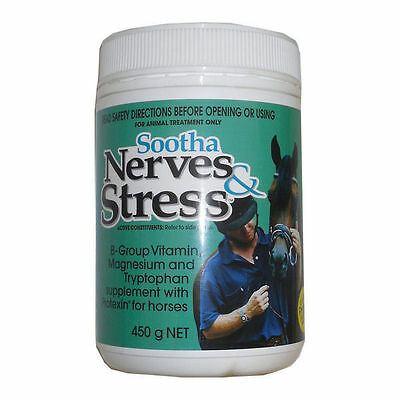 IAH Sootha Nerves + Stress horse pony show stables added Protexin probiotic