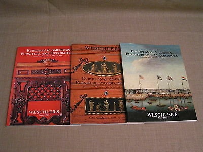 3 2001 Weschler's European American Furniture & Decoration Auction Catalog Books