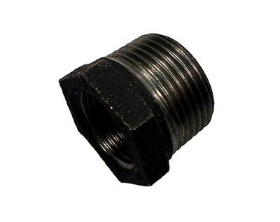 "3/4"" x 1/2"" BSP Black Malleable Iron Hex Bush 