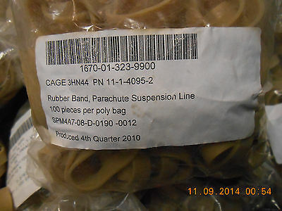 40 US Government Issue Parachute Rubber Bands military skydiving Highest Quality