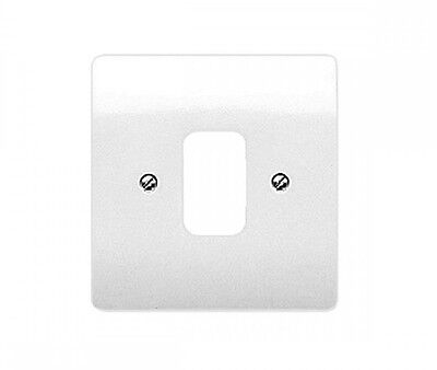 MK K3631 1 Gang Moulded White Front Plate | Compatible With MK Grid Plus Modules