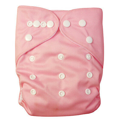 1 Washable Reusable Baby Cloth Diaper Pink Nappy for Girl +1Insert Ship from US